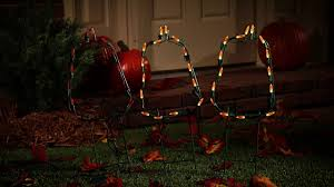 Halloween Pathway Lights Stakes by Pumpkin Outline Path Lights Outdoor Halloween Decoration