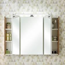 badezimmer spiegelschrank mit led beleuchtung raipur 66 in korpus riviera eiche quer nb b h t 100 70 18cm