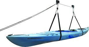 Garage Ceiling Kayak Hoist by Kayak Hammock Deluxe Hoist System