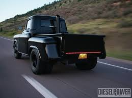 1957 International Truck | 1957 Chevy Pickup In The Black Rear Three ...