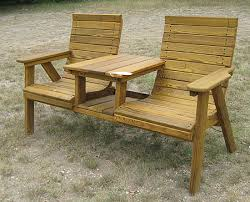 side by side deck chairs with attached table made by hudson