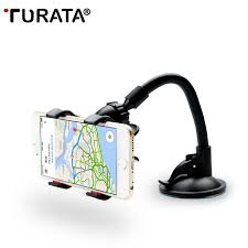 Car Phone Clip Holder Suction TURATA 360 Degree For Smartphone 3 5 6 inch GPS Tag