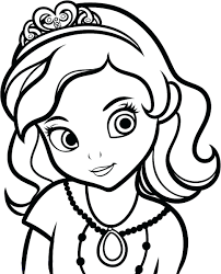 Sofia Mermaid Coloring Pages Princess Games To Print The First Full Size
