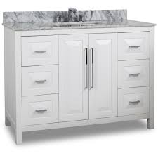 48 Cabinet With Drawers by White Jeffrey Alexander Van104 48 T