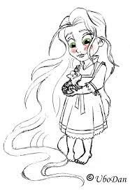Baby Princess Rapunzel Coloring Pages 1
