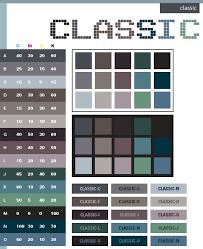 Classic Color Schemes Combinations Palettes For