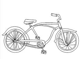 Click To See Printable Version Of Cruiser Bicycle Coloring Page
