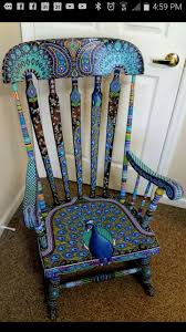 Hand Painted Peacock Rocking Chair | Painted Furniture | Muebles ... Sale Vintage Folk Art Rocking Chair Pa Dutch Handpainted Black Dollhouse Doll Fniture Painted Blue White Chalk Paint Decor Ideas Design Newest Hand Painted Peacock Rocking Chair Nursery Fniture Queen B Studios Wikipedia Danish Mid Century Solid Wood Vintage Rocking Chair Secohand Pursuit Antique Rocker As Seasonal Quilt From Whimsikatz Upcycled Hand Cacti Motif Retro School Herconsa Childrens Hand Painted Shrek