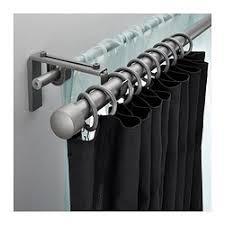 Umbra Capasa Double Curtain Rod by Räcka Hugad Double Curtain Rod Combination Silver Color