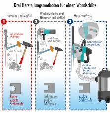 elektroinstallation wo und wie tief dürfen wandschlitze sein