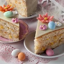 schlemmen zu ostern nektarinen torte und orangen eierlikör