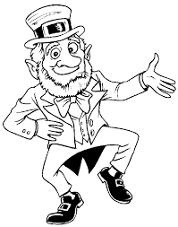 Leprechaun Colouring Pages Free Printable Coloring For Kids