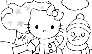 Christmas Kitty Coloring Pages Tree Download By Cat