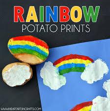 Rainbow Potato Printing Craft