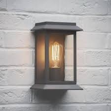 Garden Trading Grosvenor Outdoor Wall Light in Charcoal Fitting