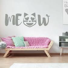 Amazoncom Emoji Wall Decal Meow Cat Vinyl Art