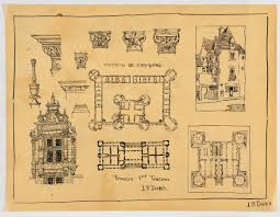 Chateau Floor Plans Chateau De Chambord Detail Drawings Exterior