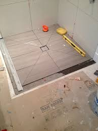 using diagonal cuts to slope your shower floor planning guide