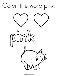 Color The Word Pink Coloring Page