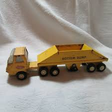 100 Steel Tonka Trucks Vintage 1960s Yellow Diecast Pressed Bottom Dump Truck