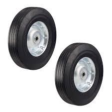 100 Heavy Duty Truck Wheels Two NeverFlat 10Inch Solid Hard Rubber Hand