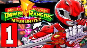 ranger part 1 mighty morphin power rangers mega battle gameplay walkthrough part