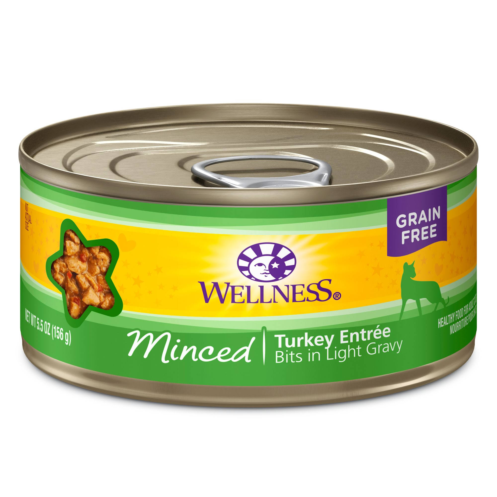 Wellness Minced Canned Cat Food - Turkey Entree