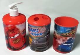 Disney Character Bathroom Sets by Amazon Com 3 Pc Disney Pixar Cars Bath Set Dispenser
