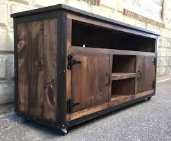 Rustic Industrial Barn Board Entertainment Center TV Stand Reclaimed Wood 62 Walnut