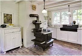 kitchen with old stove hooked on houses