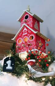 Painted Birdhouse Tree Topper Tutorial