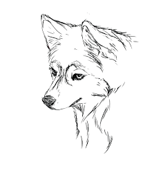 Husky Puppy Coloring Pages Cute Printable Pet Christmas Dogs Full Size