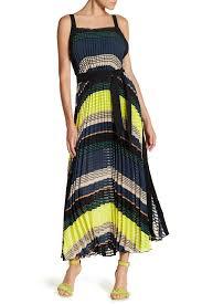gracia pleated colorblock maxi dress nordstrom rack