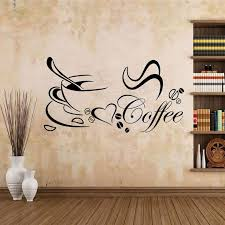 wandtattoo kaffee esszimmer spruch mokka wandaufkleber küche