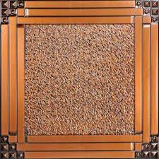 Antique Ceiling Tiles 24x24 by Copper Ceiling Tiles Ceilings The Home Depot