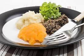 Nouveau Cuisiner Rutabaga Repas Très écossais Haggis Rutabaga Et Purée De Pommes De Terre D