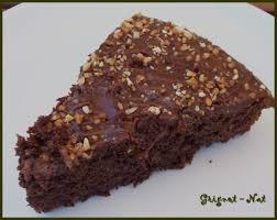 gâteau chocolat noisettes grignot nat