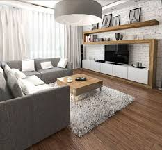 wohnungseinrichtung ideen wohnzimmer graues ecksofa wohnwand