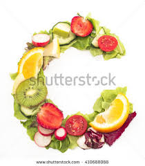 Fruit And Ve able Alphabet Stock Royalty Free