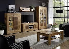 massivholz wohnzimmer möbel set komplett 5teilig wildeiche