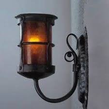 Mica Lamp Company Sconce by Genuine Mica Lamp Company Sconce Authentic Black Iron Almond
