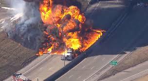 100 Tanker Truck Explosion Massive Tankertruck Fire Shuts Down I94 In Detroit