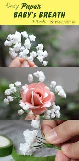 Paper Baby Breath Tutorial So Easy Realistic Paperflower Paperflowers Flowertutorial