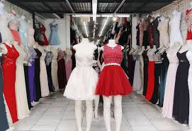 LA Fashion District Prom Dress Store Display