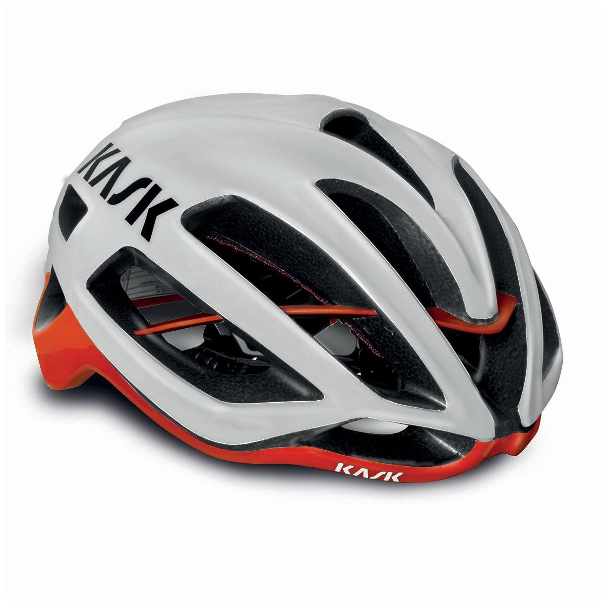 Kask Protone Road Cycling Helmet - White/Red, Large