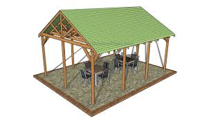 Slant Roof Shed Plans Free by Outdoor Pavilion Plans Myoutdoorplans Free Woodworking Plans