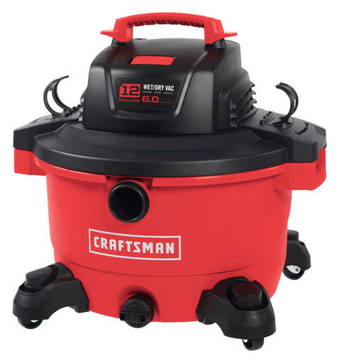 Craftsman cm Wet/Dry 12gal 6HP, Red