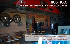 RUSTICO STYLISH DINING WORTH A SPECIAL JOURNEY