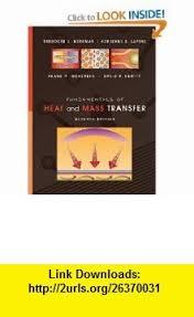 Fundamentals Of Heat And Mass Transfer 9780470501979 Theodore L Bergman Adrienne S