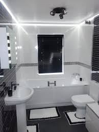 best led bathroom vanity lights ideas for small black and white